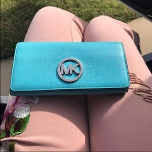 Beautiful blue MK wallet great condition